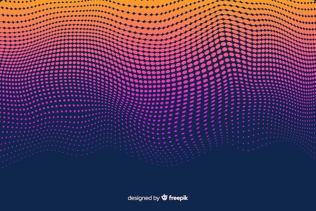 ハーフトーン効果の背景グラデーションスタイル