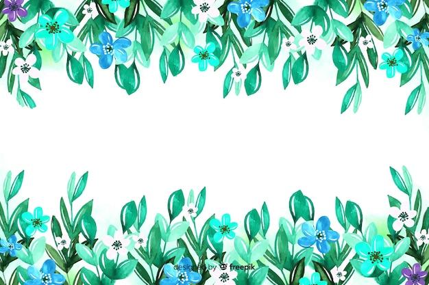 美しいカラフルな花の背景組成