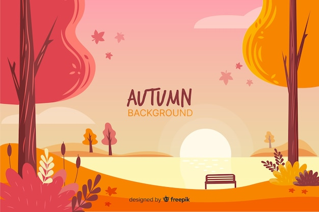 Осенний фон рисованной стиль