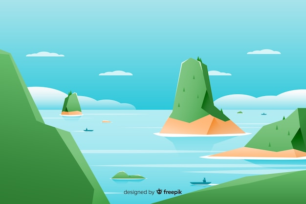 Плоский природный ландшафт с холмами