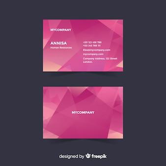 Шаблон визитной карточки геометрических фигур