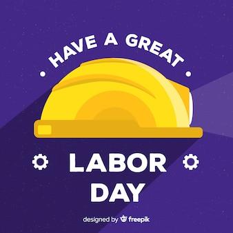 День труда фон плоский дизайн