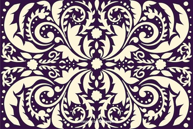 手描きの有機ダマスク織の背景