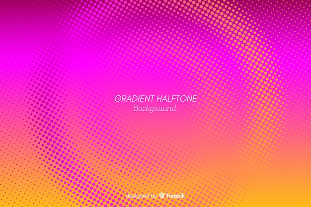 グラデーションハーフトーン効果のカラフルな背景