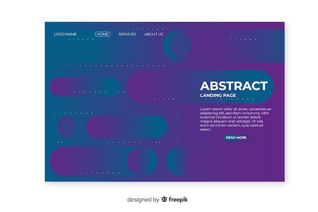 平らな抽象的なランディングページのテンプレート
