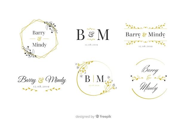 Пакет с логотипом свадебной монограммы