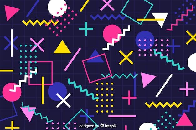 ヴィンテージのカラフルな幾何学的形状の背景
