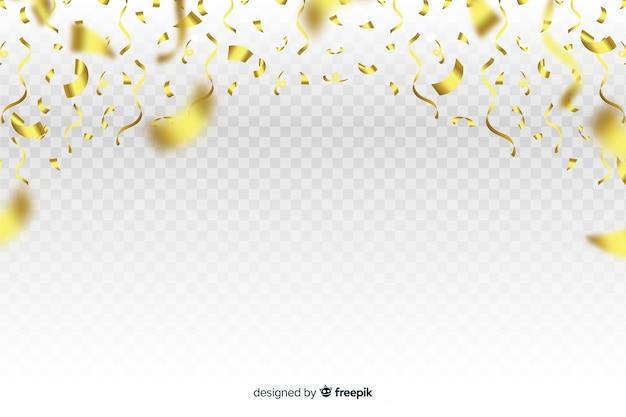 落ちて黄金の紙吹雪と豪華な背景