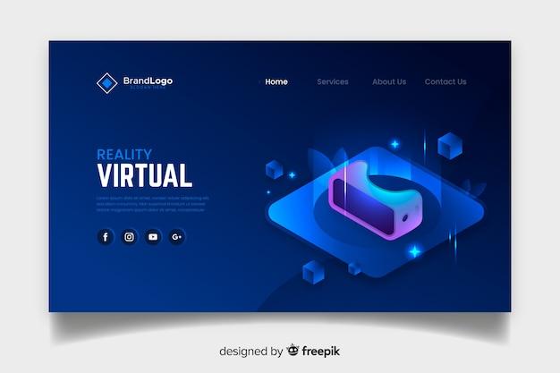 Шаблон целевой страницы виртуальной реальности