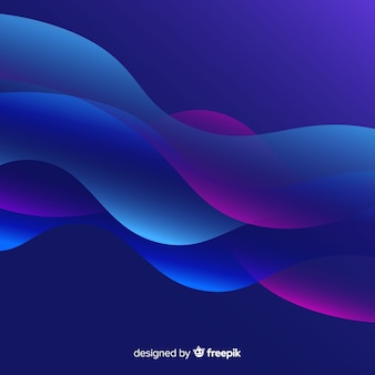 グラデーション図形と抽象的な背景