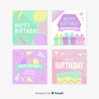 お誕生日おめでとうカードのコレクション