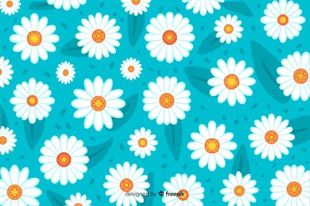 美しい水彩画デイジーの花の背景
