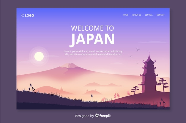 Добро пожаловать в шаблон целевой страницы японии