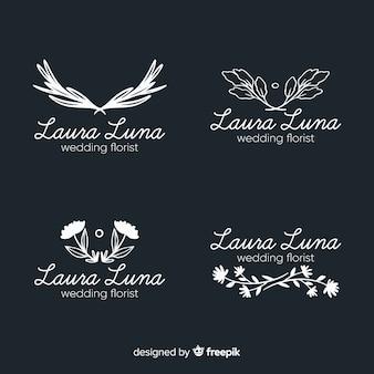 Коллекция логотипов для свадебного флориста