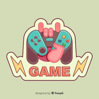 手描きゲームパッドのロゴ