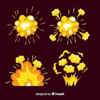Пакет взрывных эффектов в мультяшном стиле