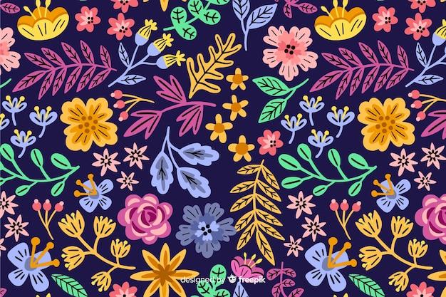 色とりどりの花の美しい背景