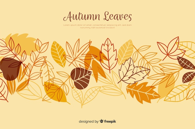 Рисованной осенние листья фон