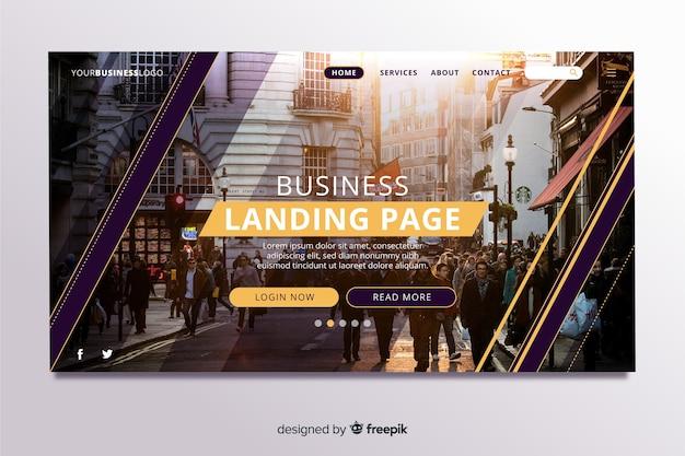 Целевая страница для бизнеса с фото
