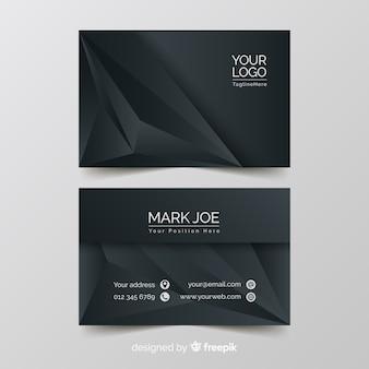Шаблон визитной карточки с абстрактными формами градиента