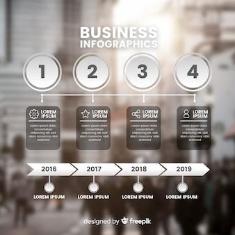 写真とビジネスインフォグラフィックテンプレート