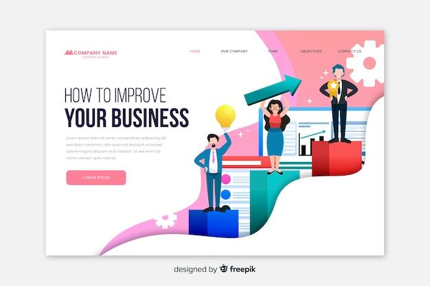 ビジネス用ランディングページテンプレート