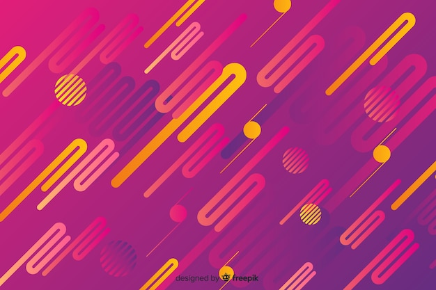 Абстрактный фон с градиентом динамических фигур