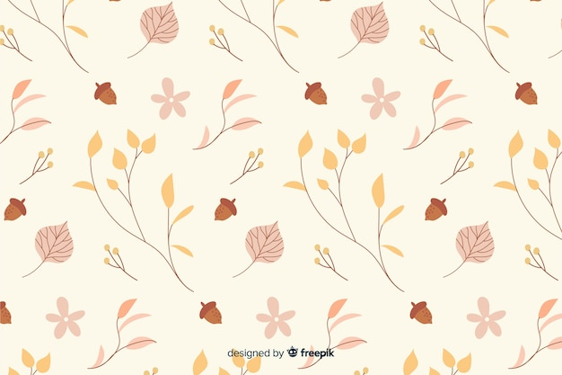 手描きの葉秋の背景