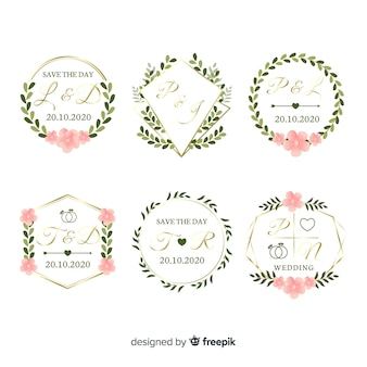 Коллекция монограмм свадебных логотипов
