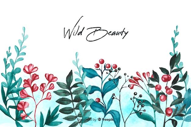 Цветочная природа фон с цитатой