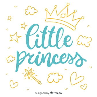 プリンセススタイルでレタリング引用