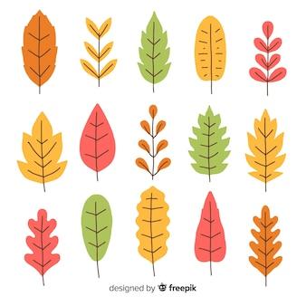 手描き秋の森の葉のコレクション