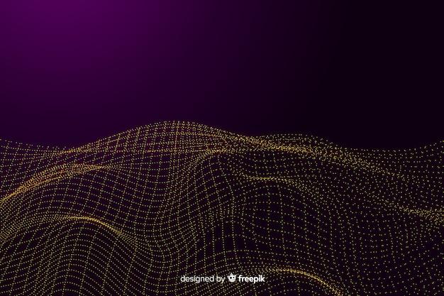 Абстрактный фон цифровой сетки волн
