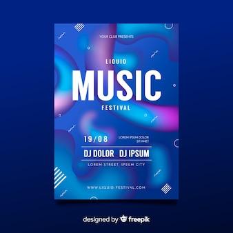 Шаблон плаката фестиваля абстрактной музыки