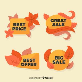 秋の販売ラベル集