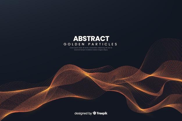 抽象的なデジタル粒子波背景