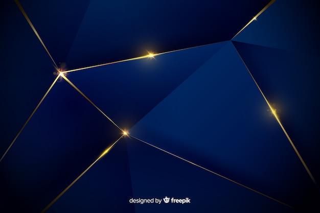 エレガントな暗い多角形の背景デザイン