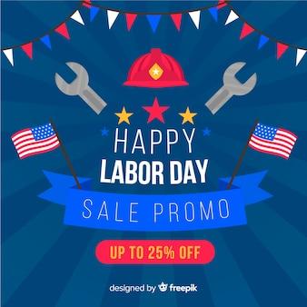 フラットスタイルのアメリカ労働日営業の背景