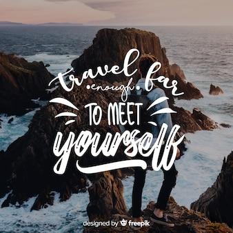 見積もりと画像で旅行レタリング