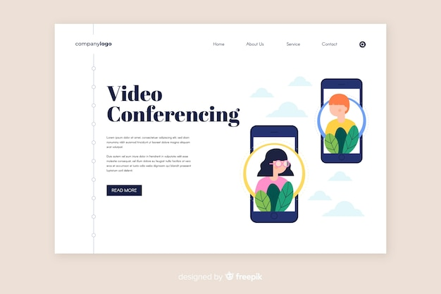 Шаблон видеоконференцсвязи и страницы