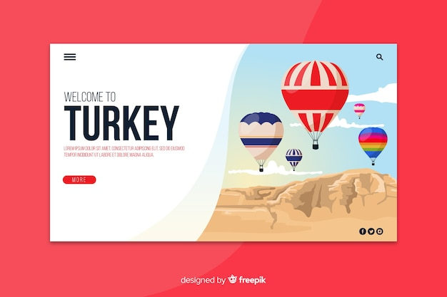 トルコのランディングページテンプレートへようこそ