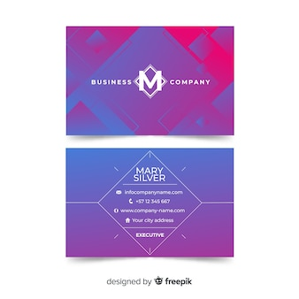 Абстрактный геометрический шаблон визитной карточки
