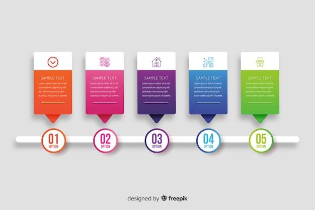 企業のインフォグラフィックテンプレート、インフォグラフィック要素の構成