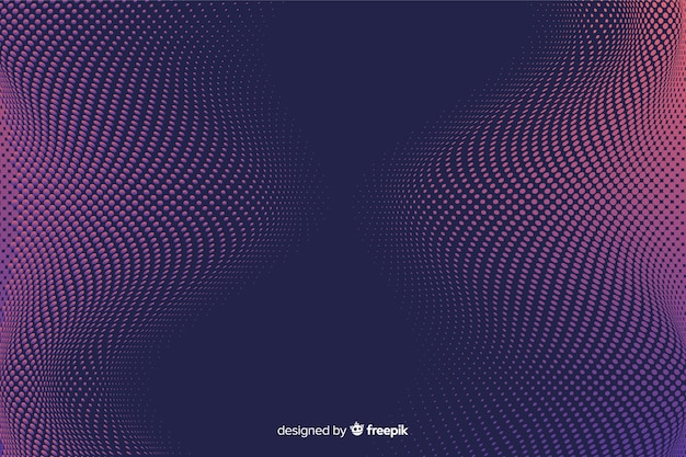 グラデーションハーフトーン効果と抽象的な背景