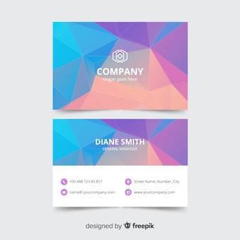 Корпоративный шаблон визитной карточки, дизайн спереди и сзади