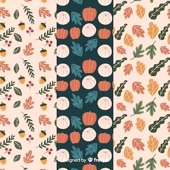 手描き秋模様のコレクション