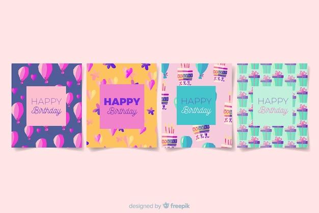 Коллекция поздравительных открыток в стиле акварели