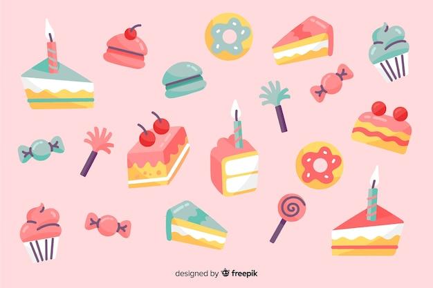 С днем рождения фон в стиле рисованной