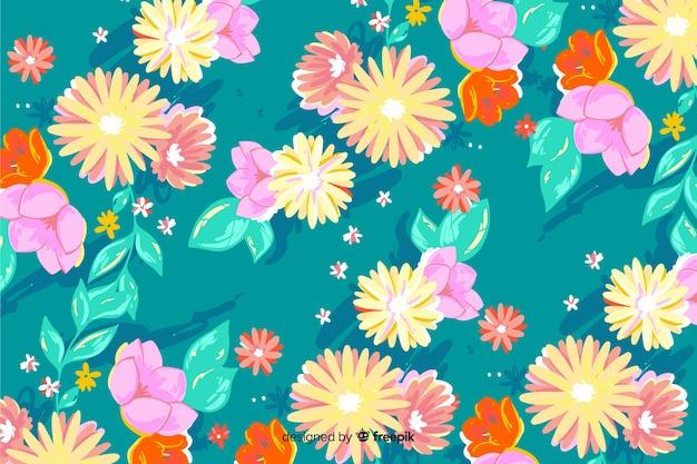 Красочный фон ручной росписью цветов