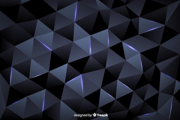 Темный многоугольный фон элегантный стиль